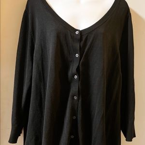 Lane Bryant Black cardigan Size 22/24 excellent
